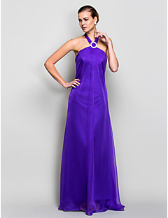 Formal Evening / Military Ball Dress - Regency Plus Sizes / Petite A-line Halter Floor-length Chiffon