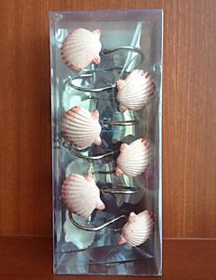 Douchegordijn Haken, Pink Shell Shape zink legering (12 pack)