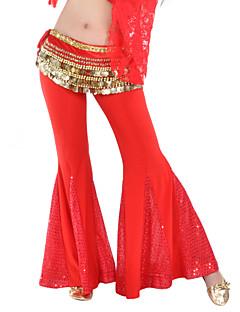 ריקוד בטן חלקים תחתונים בגדי ריקוד נשים אימון פוליאסטר נצנצים חלק 1 מכנסיים