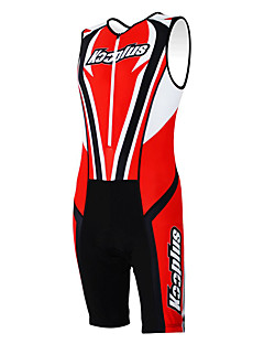 Kooplus Tri Suit Women's Men's Unisex Sleeveless Bike Breathable Quick Dry Moisture Permeability Wearable 3D PadCoveralls Clothing