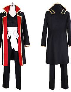 Inspired by Gintama Shinsuke Takasugi Anime Cosplay Costumes Cosplay Suits Color Block White / Black / RedCoat / Vest / Pants / Headband