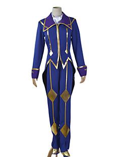 Inspirado por Código Gease C.C. Anime Fantasias de Cosplay Ternos de Cosplay Patchwork Preto / Azul / DouradoCapa / Colete / Top / Calças