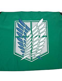 Aanval op Titan Freedom Wings Cosplay Groene Vlag