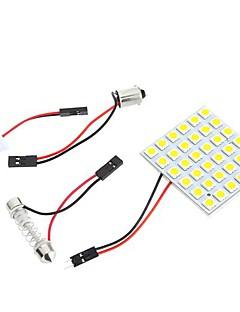5050 SMD 36 LED warme weiße Haube-Birnen-Licht für Auto-Innenraum mit 3 Adaptern