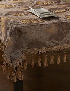 European Floral Gold broderi duk