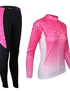 ARSUXEO® Cycling Jersey with Tights Women's Long Sleeve Bike Breathable / Thermal / Warm / Quick Dry / Front Zipper / 3D PadJersey +