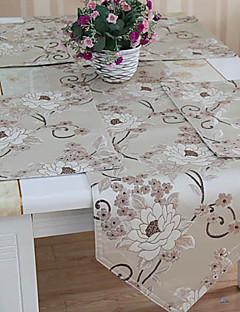Ensemble de 4 Poly soie beige Floral Sets