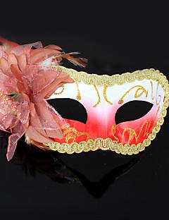 Orange Flower purfle Plastic Half-Gesichtsmaske