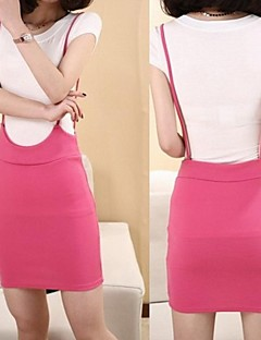 Women's Black/Blue/Pink/Yellow Skirts , Sexy/Bodycon/Casual/Cute Above Knee