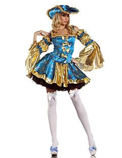 תחפושות קוספליי / תחפושת למסיבה תחפושות בנושאי קולנוע וטלוויזיה פסטיבל/חג תחפושות ליל כל הקדושים כחול טלאים שמלה / כובעהאלווין (ליל כל