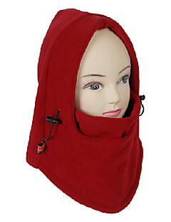 Unisex Venkovní Windproof Red Polar Fleece Cyklistika Mask