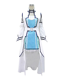 Inspired by Sword Art Online Asuna Yuuki Anime Cosplay Costumes Cosplay Suits Patchwork Vest Dress Sleeve Waist Accessory For Female