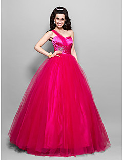 TS Couture® Prom / Formal Evening / Quinceanera / Sweet 16 Dress - Vintage Inspired Plus Size / Petite A-line / Ball Gown / PrincessOne Shoulder