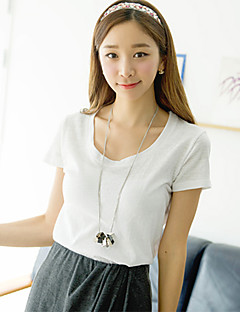 [Pashong] Women's Round Collar Basic Soft T Shirt