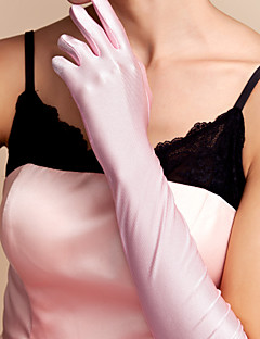 Elbow Length Fingertips Glove Spandex Bridal Gloves Spring / Summer / Fall / Winter