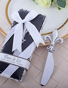 Krom Pratik Şekerleri Mutfak Araçları Çiçek Teması / Klasik Tema Gümüş 14cm*6cm*1.8cm Kurdeleler