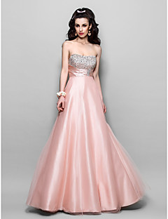 TS Couture® Prom / Formal Evening / Military Ball Dress - Vintage Inspired Plus Size / Petite A-line / Princess Strapless Floor-lengthTulle / Stretch