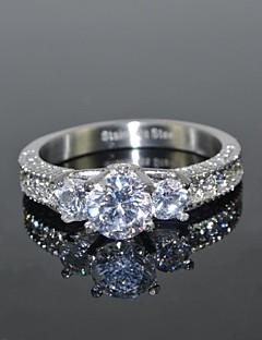 Dame Imitasjon Diamant Kjærlighed Luksus Smykker Brude kostyme smykker Rustfritt Stål Zirkonium Kubisk Zirkonium Rund Form Krone Formet