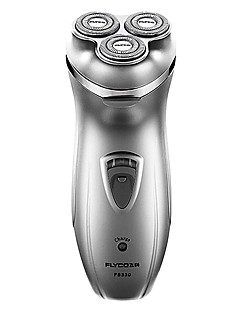 Elétrico / Barbeadora Rotativa Baixo Ruido / Cabeças Flexiveis / Design Ergonómico Barbeador Seco Aço Inoxidável