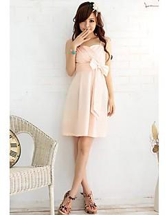 Women's Party/Cocktail A Line Dress,Solid Off Shoulder Knee-length Sleeveless Pink / Beige / Black Summer
