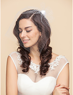 Tulle And Satin Wedding/Party Blusher Veils With Rose(More Colors)