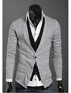 Wshgyy Mænds Two Piece Ligesom Leisure Strik Cardigan Light Gray Shirt