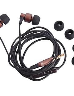 3.5 m3 אוזניות בתעלת אוזן דיבוריות עם מיקרופון עבור iPhone (120 סנטימטרים)