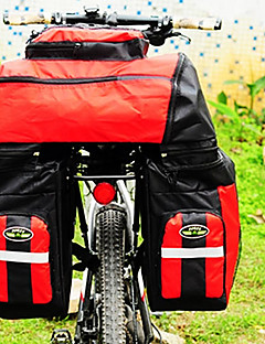 fjqxz tylna sakwa rowerowa torba 70l duża pojemność 600d poliester wodoodporny worek czerwony Rower / rower