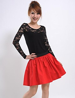 Vrouwen elastische taille rode rok