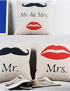 Ensemble de 3 Mr.Beard moderne et belles housses amour coussin décoratif de Mrs.Lip