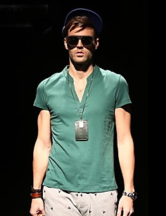 Viishow Men's V Neck Casual Cotton Short Sleeve Slim T Shirt TD14442