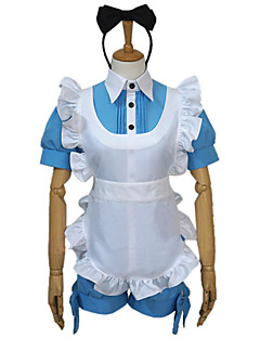 Inspired by Black Butler Ciel Phantomhive Anime Cosplay Costumes Cosplay Suits Patchwork Top Headpiece Apron Bow Shorts For Female