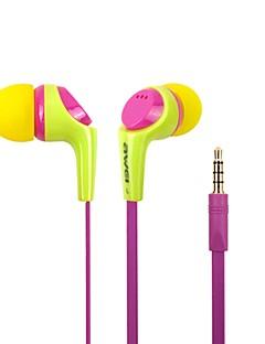 הכנס האופנה AWei Q6i 3.5mm סגסוגת אלומיניום Super Bass מיקרופון אוזניות-(צהוב / / כחול) בתוך האוזניים