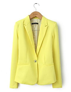 Fashion Women's Candy Color Turn-Down Collar Blazers OL Slim Suits