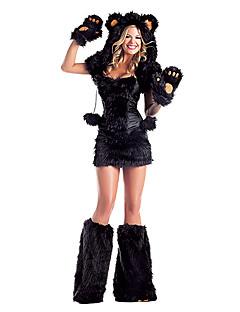 Cute Little Bear Black Fur Women's Halloween Party Costumefor Carnival