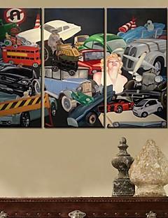 Su tela arte la sua città della Canzone Set di 3