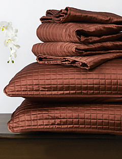 huani® Quilt-Set, 3 Stück rot Plaid Polyester