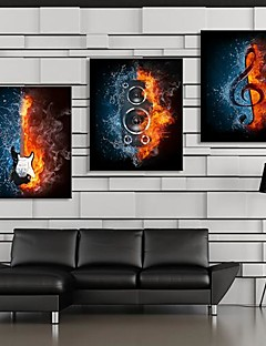 Canvastaulu taide Pop Art Passion of Music Set of 3