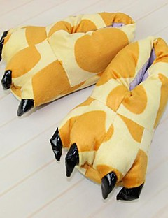 Kigurumi Pajamas Giraffe Shoes Slippers Festival/Holiday Animal Sleepwear Halloween Yellow Animal Print Cotton Polyester Slippers For