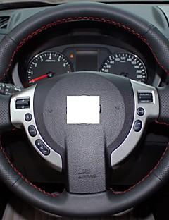 Xuji ™ Negro, volante de cuero genuino para Nissan QASHQAI X-Trail NV200 Rogue