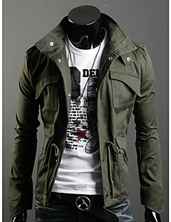 Men's Round / Stand Coats & Jackets , Cotton / Cotton Blend Long Sleeve Casual Fashion Winter / Fall TNFF