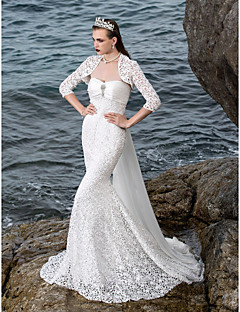 Lanting Bride® Trumpet / Mermaid Petite / Plus Sizes Wedding Dress - Chic & Modern / Elegant & Luxurious / Glamorous & DramaticWedding