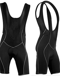 arsuxeo pantalones cortos de ciclismo del babero de los hombres de negro