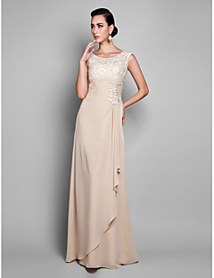 TS Couture® Prom / Formal Evening / Military Ball Dress - Sexy / Elegant Plus Size / Petite Sheath / Column Jewel Floor-length Chiffon with Lace