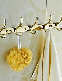 Placcatura in oro Robe Ganci Clothes 5 Ganci bagno Accessori