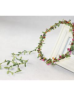 Capacete Grinaldas Casamento/Ocasião Especial Plástico Mulheres/Menina das Flores Casamento/Ocasião Especial