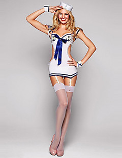 Hot Sexy Mini Sailor Uniform Costume & Chapeau (4pièces)