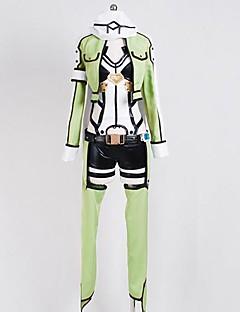 Inspirado por Sword Art Online Fantasias Anime Fantasias de Cosplay Ternos de Cosplay Miscelânea Branco Preto Verde Manga CompridaCasaco
