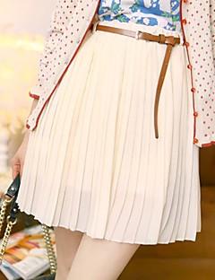 yifanyigui naisten elastinen korkea vyötärö sifonki laskostettu hame