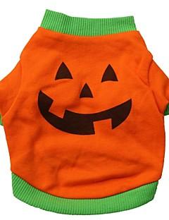 Cat / Dog Costume / Shirt / T-Shirt / Outfits Orange Dog Clothes Summer Cartoon Cosplay / Halloween